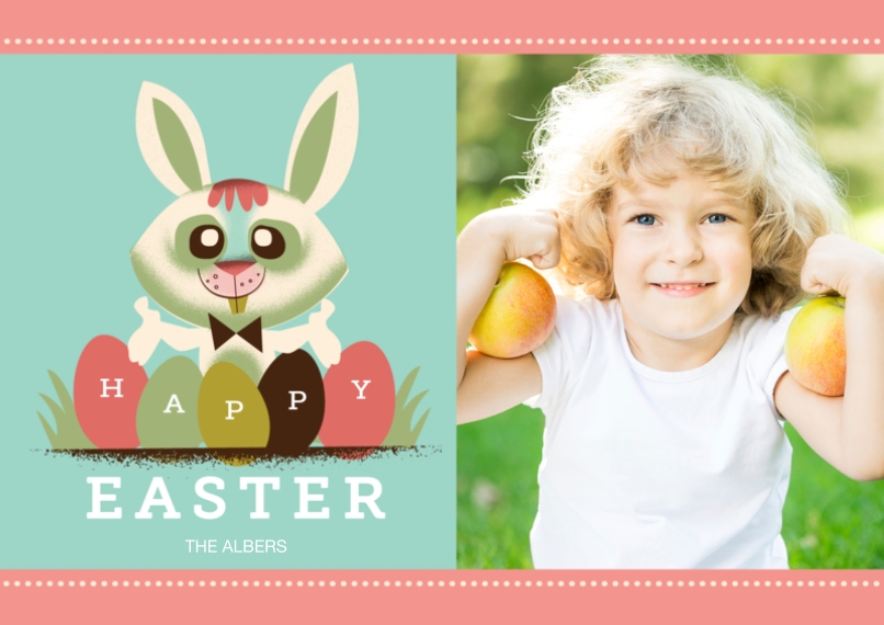 Easter Cards 5x7 Cards, Premium Cardstock 120lb with Elegant Corners, Card & Stationery -Easter Eggs