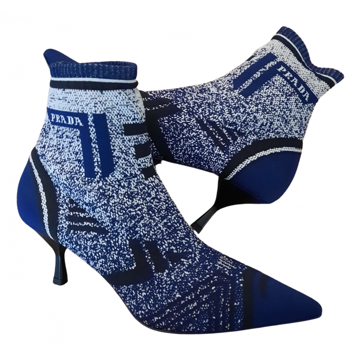 Prada \N Stiefeletten in  Blau Polyester
