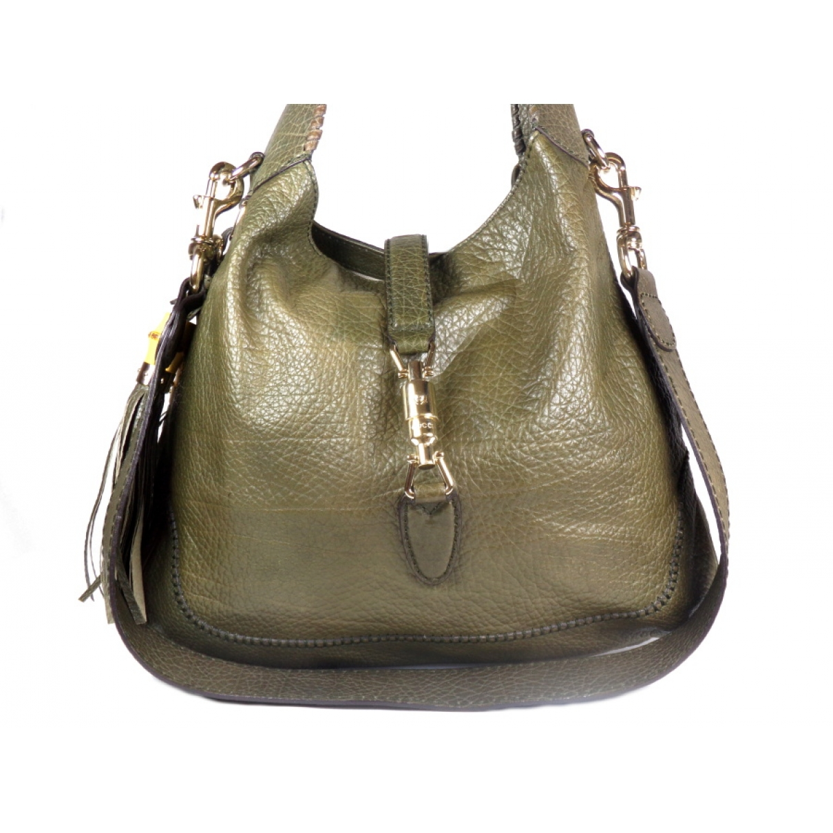 Gucci Jackie Green Leather handbag for Women \N