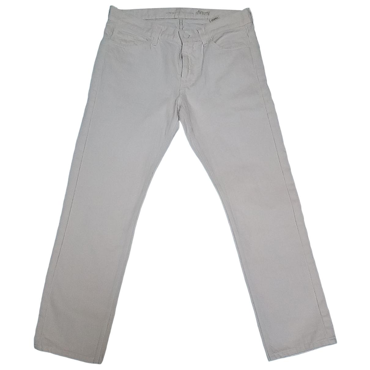 Pantalones en Algodon Blanco 7 For All Mankind