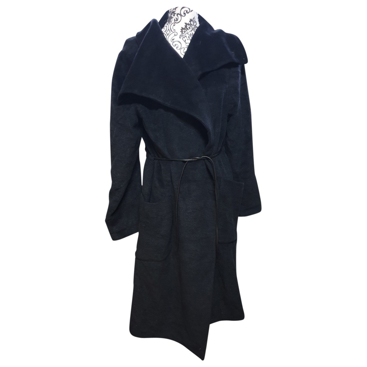 Irene Van Ryb - Manteau   pour femme en laine - noir