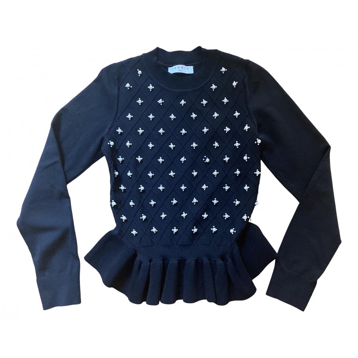 Sandro N Black Knitwear for Women 36 FR