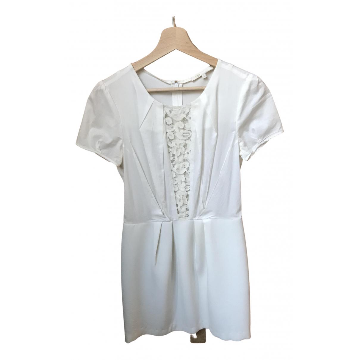 Maje Spring Summer 2019 White Cotton dress for Women 36 FR