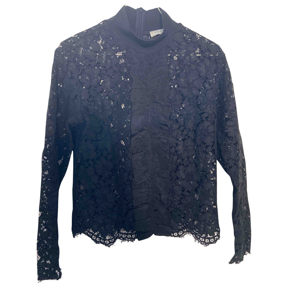 Sandro Fall Winter 2019 Black Lace  top for Women 36 FR
