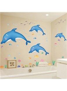 Vivid Dolphin Pattern Creative DIY Home Decor Removable Wall Sticker