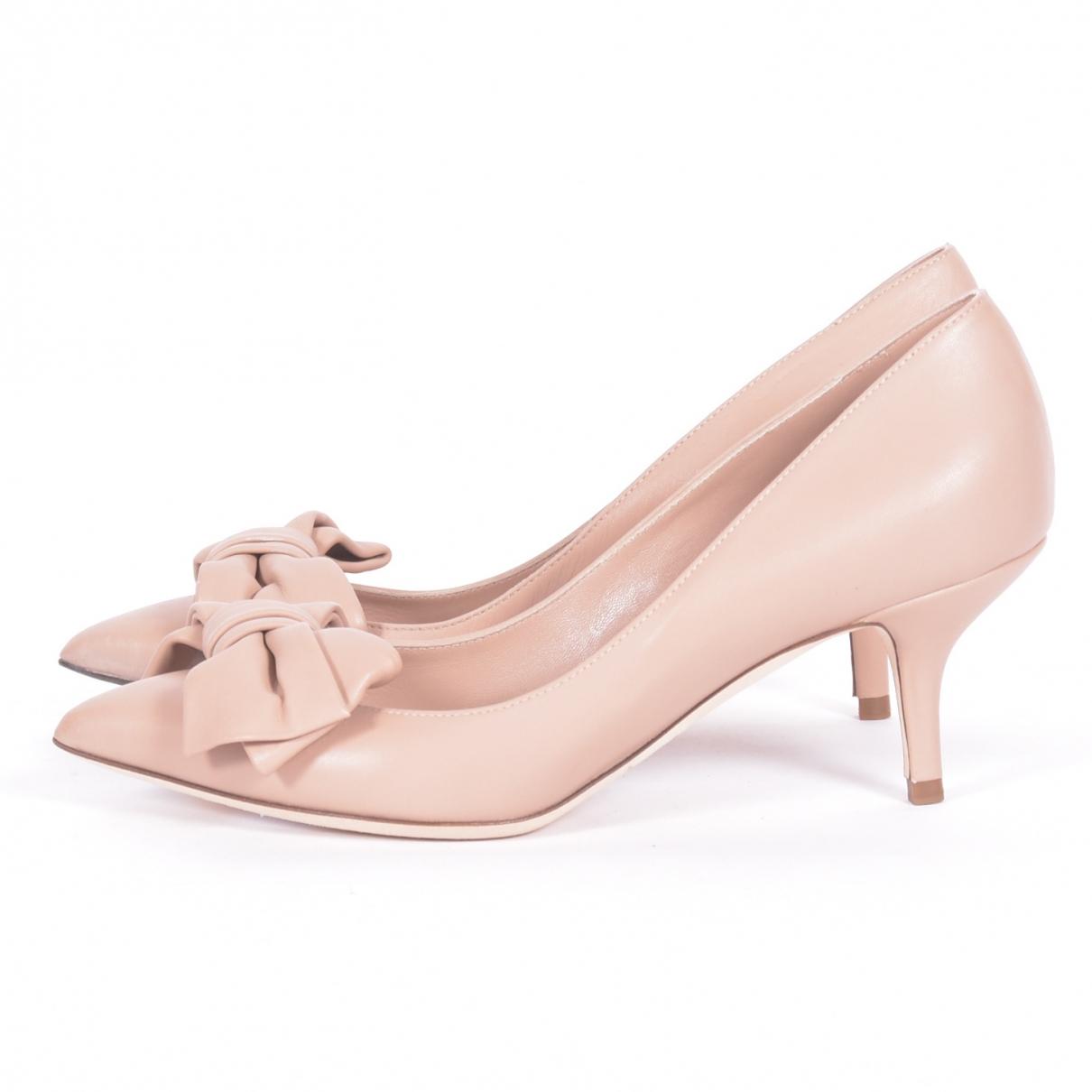 Dolce & Gabbana - Espadrilles   pour femme en cuir - rose