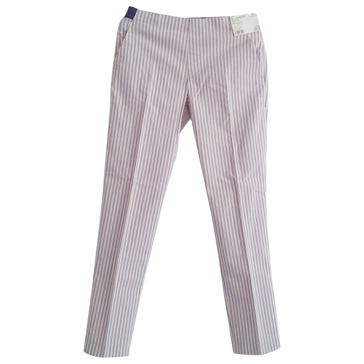Uniqlo \N Blue Cotton Trousers for Women 36