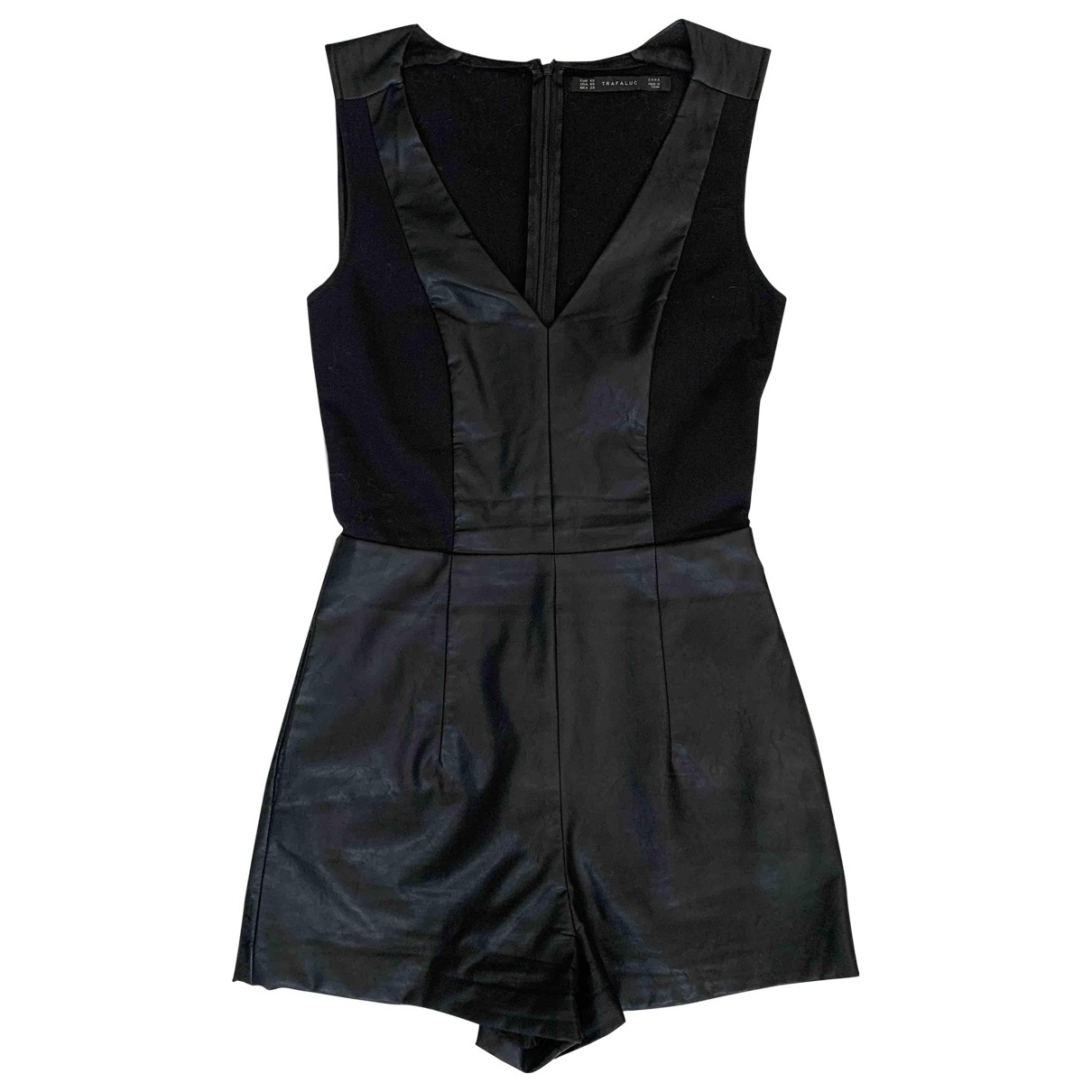 Zara \N Jumpsuit in  Schwarz Synthetik