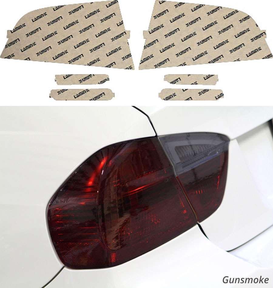 Acura TL 04-08 Gunsmoke Tail Light & Side Marker Covers Lamin-X AC406G