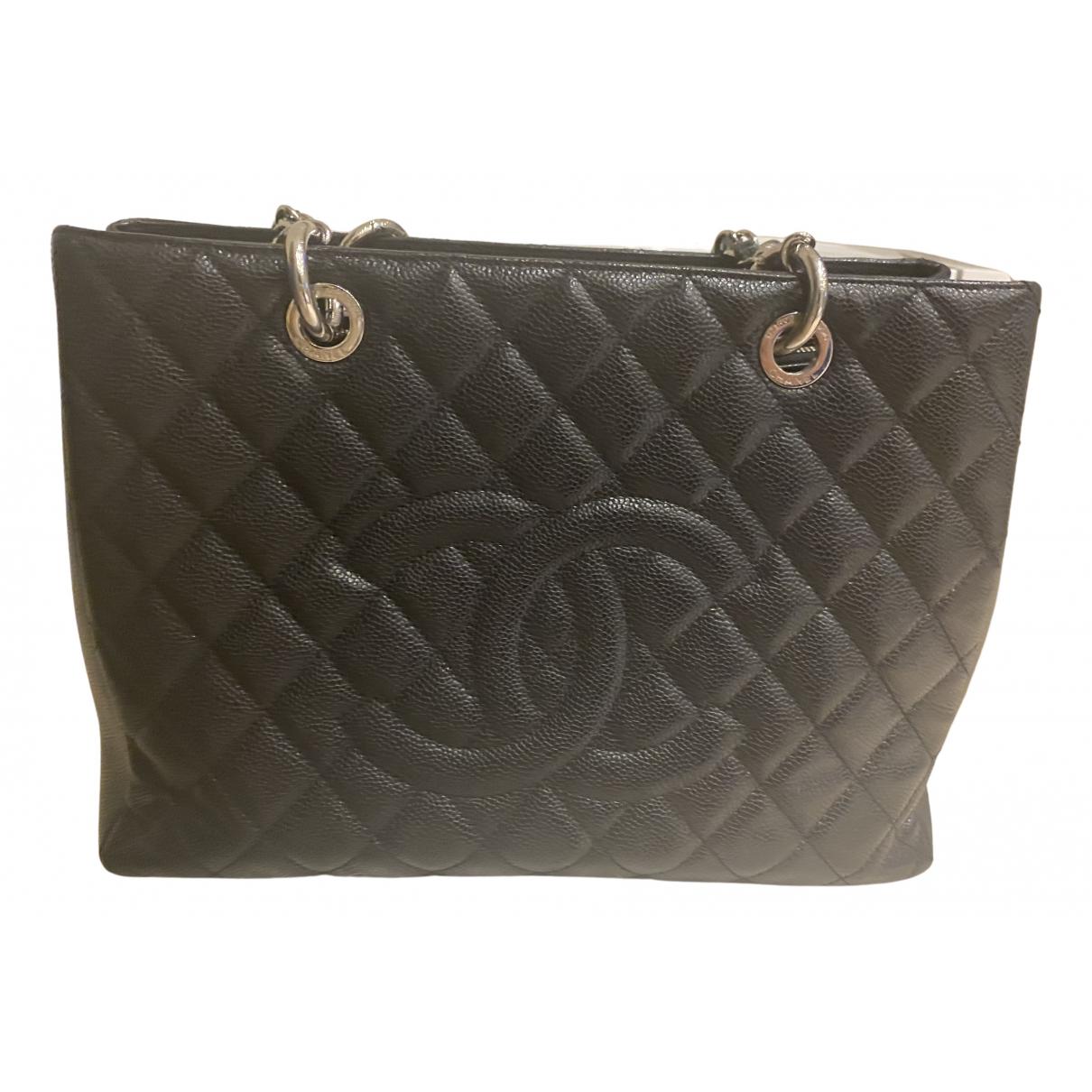 Chanel Grand shopping Black Leather handbag for Women \N