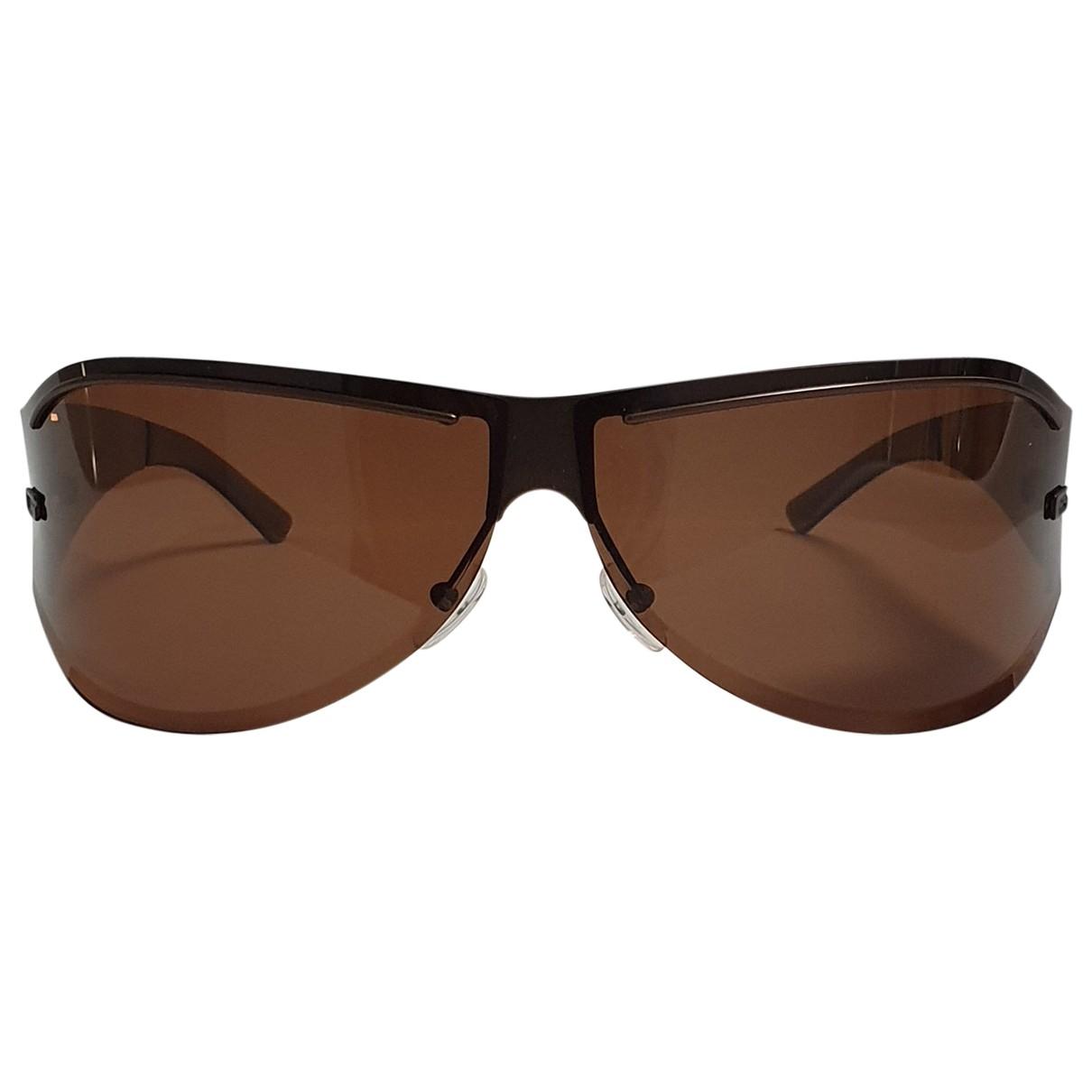 Gucci \N Brown Metal Sunglasses for Men \N