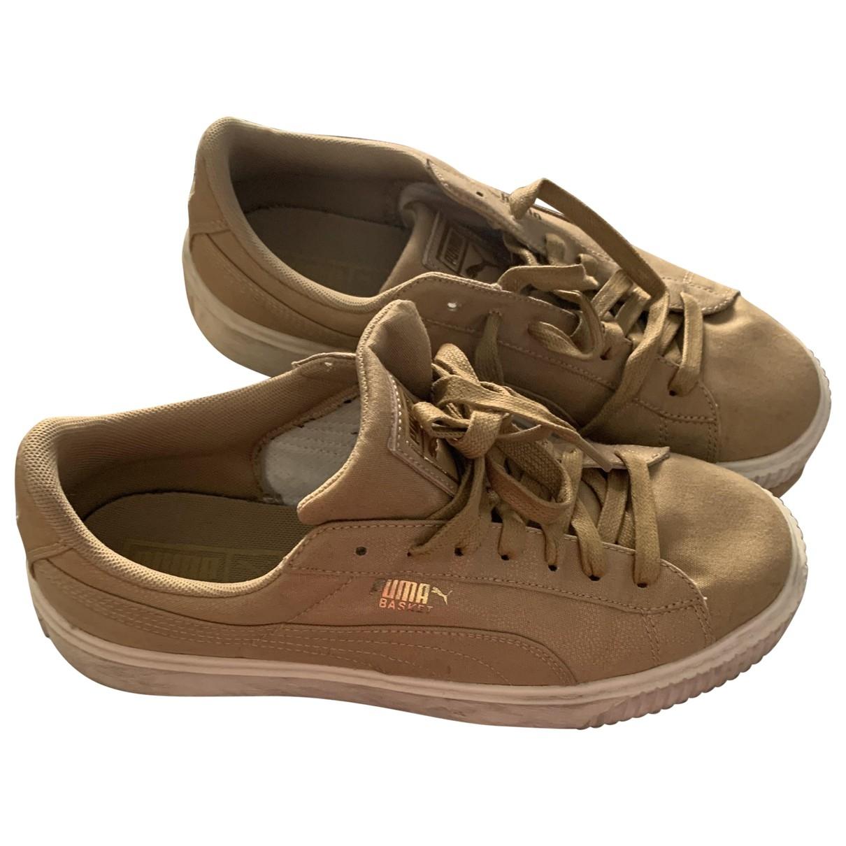 Puma \N Sneakers in  Beige Leinen