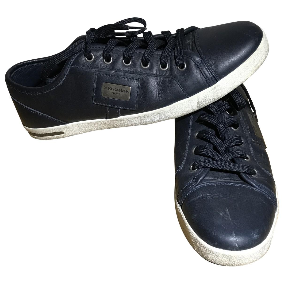 Dolce & Gabbana \N Sneakers in  Marine Leder