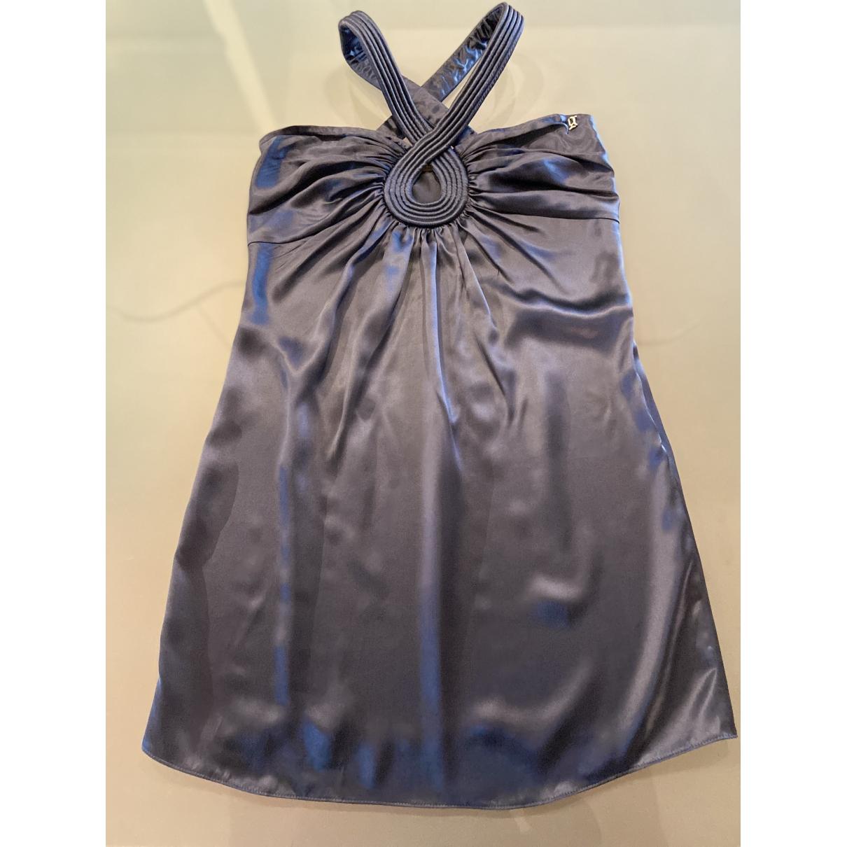 Galliano \N Kleid in  Blau Seide