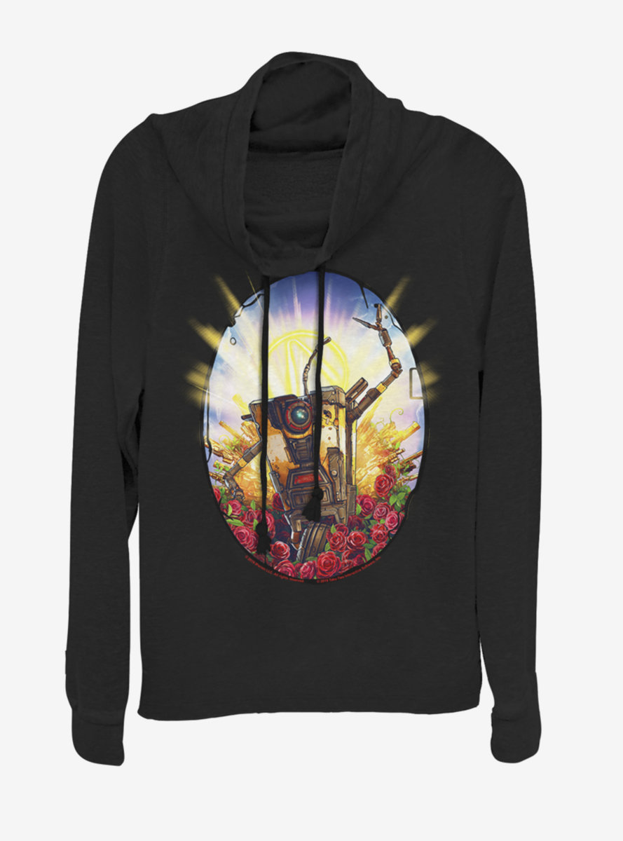 Borderlands 3 Claptrap Roses Cowlneck Long-Sleeve Womens Top