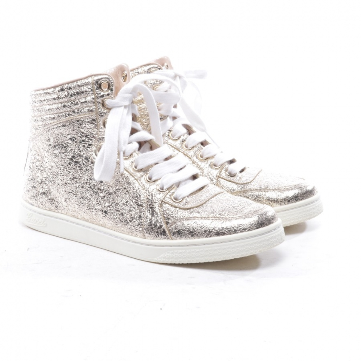 Gucci \N Sneakers in  Silber Leder