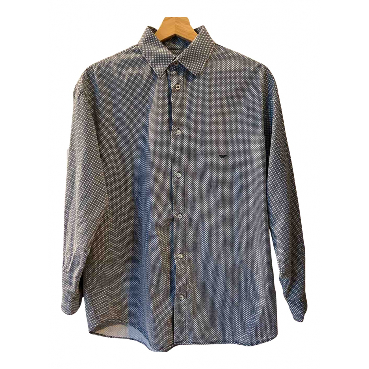 Giorgio Armani - Top   pour femme en coton - bleu