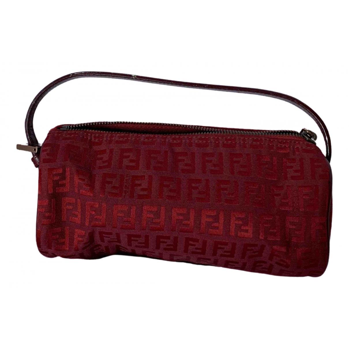 Fendi - Pochette   pour femme en toile - rouge