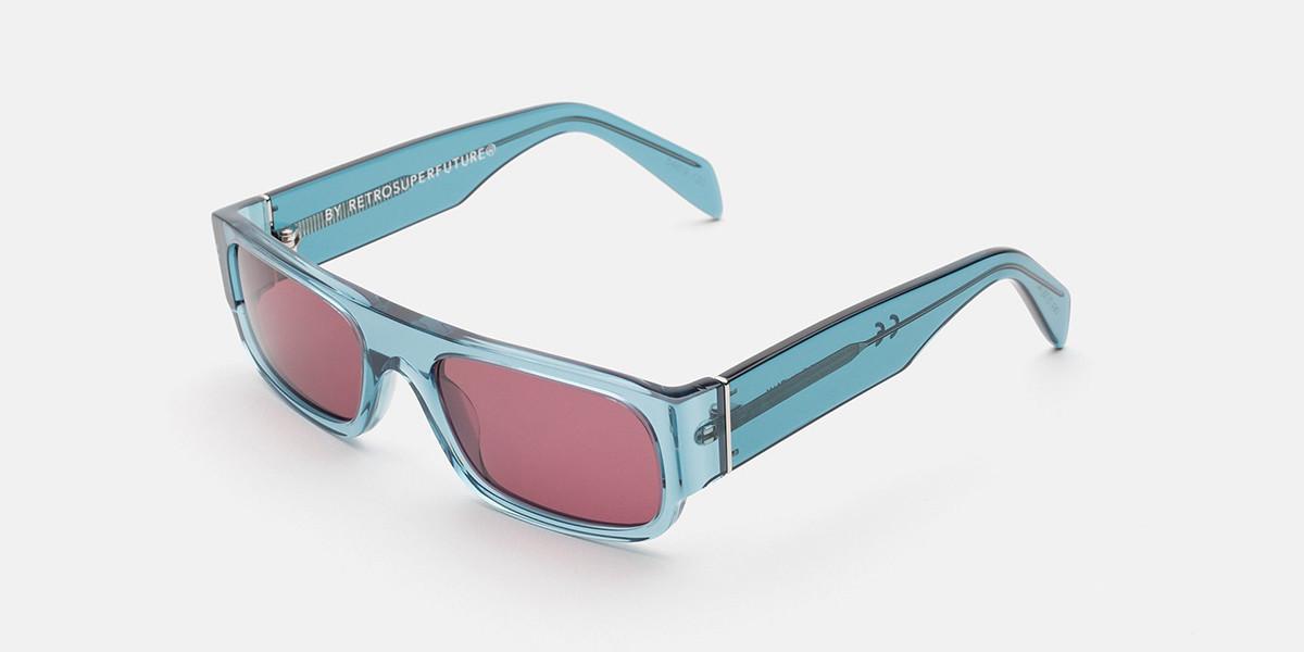 Retrosuperfuture SMILE TEAL BLUE IG6U O64 Men's Sunglasses Blue Size 54