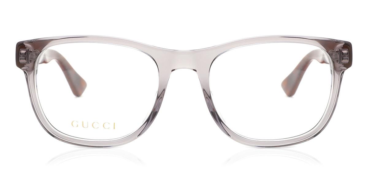 Gucci GG0004O 004 Men's Glasses Grey Size 53 - Free Lenses - HSA/FSA Insurance - Blue Light Block Available