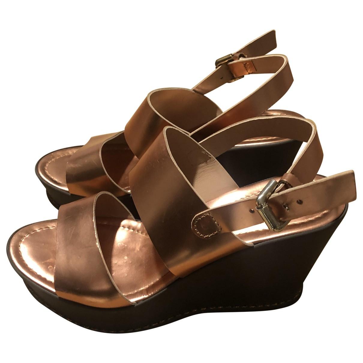 Non Signé / Unsigned \N Orange Sandals for Women 39 EU