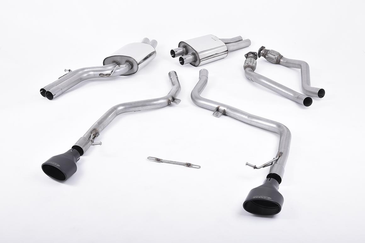 Milltek SSXAU264 2.37 inch Race Catback Exhaust System with Black Oval 150 x 95mm Tips Audi S5 B8 Cabriolet 3.0TFSI Quattro S Tronic 08-16
