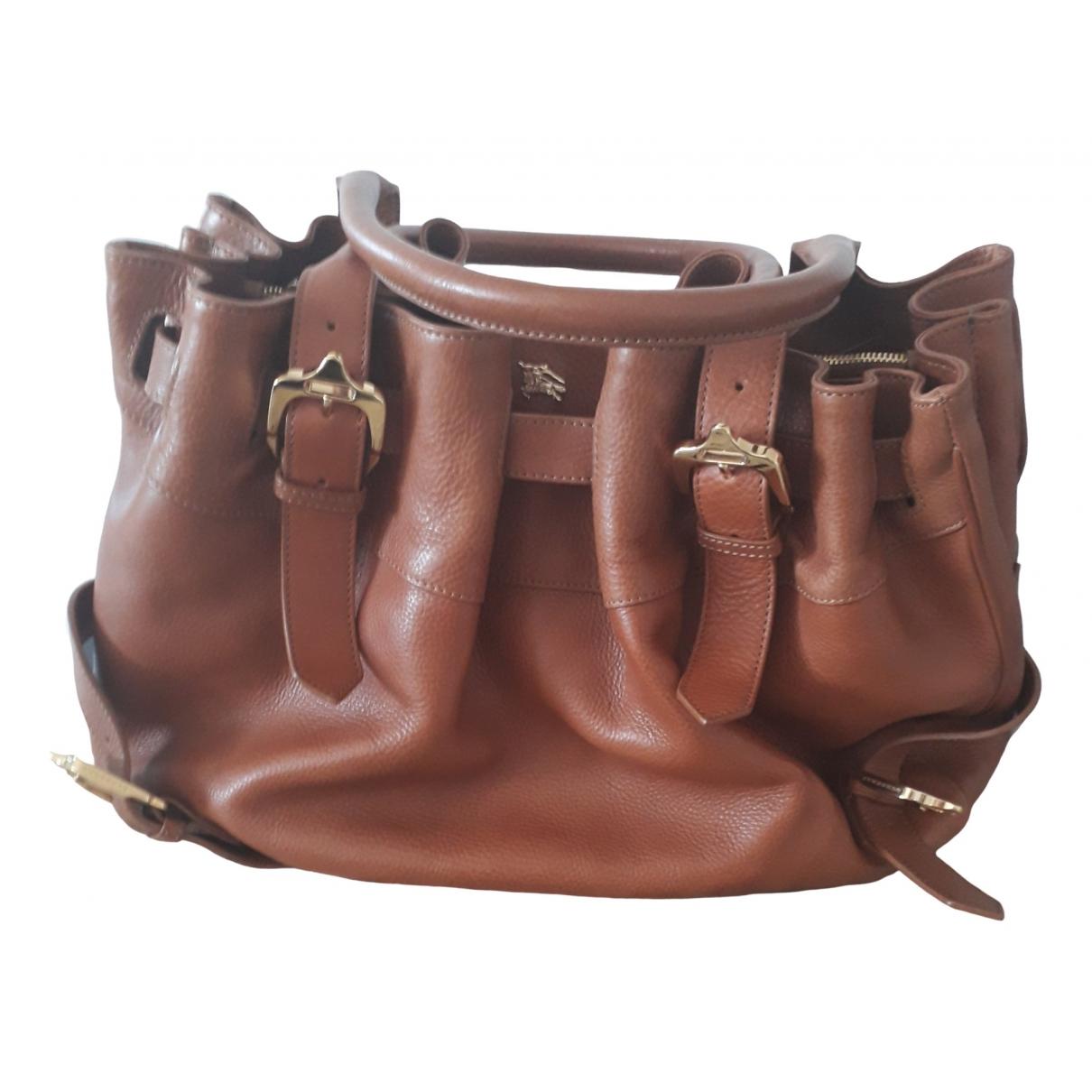 Burberry - Sac a main   pour femme en cuir - marron