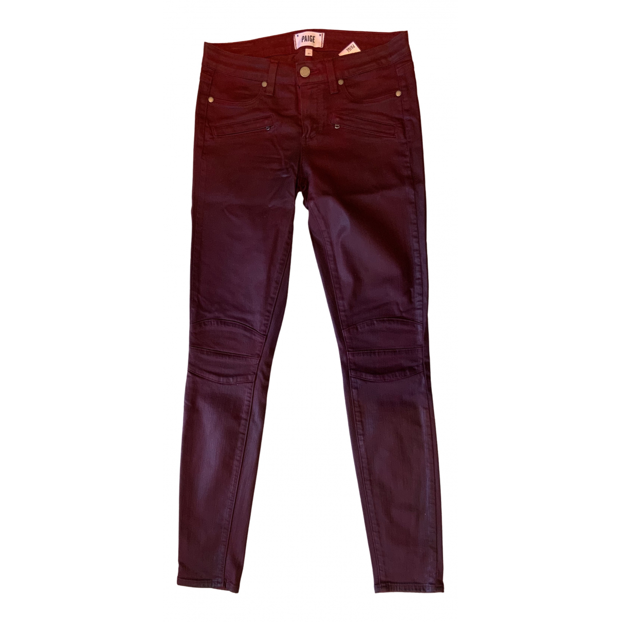 Paige Jeans N Burgundy Cotton - elasthane Jeans for Women 27 US
