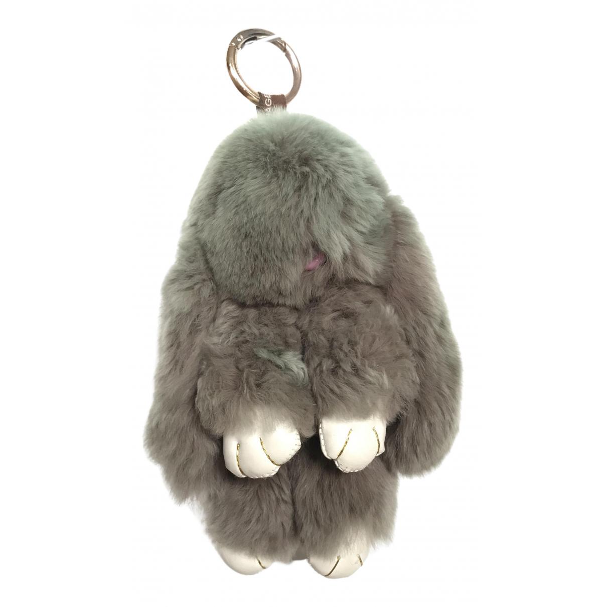 Kopenhagen Fur \N Taschenschmuck in  Grau Kaninchen