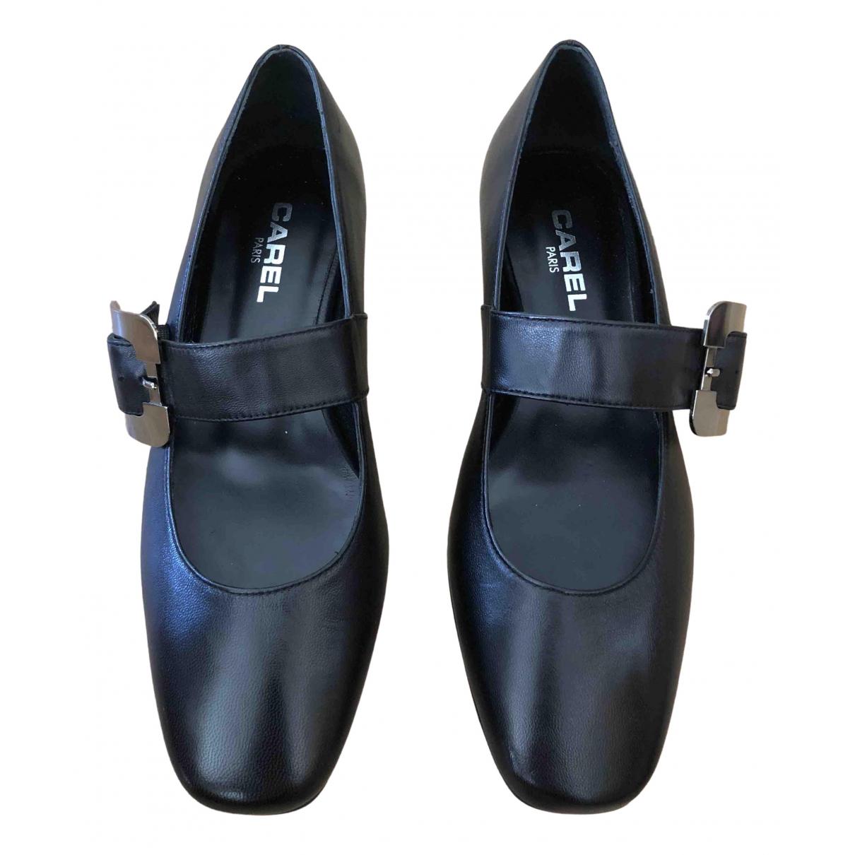 Carel - Ballerines   pour femme en cuir - noir