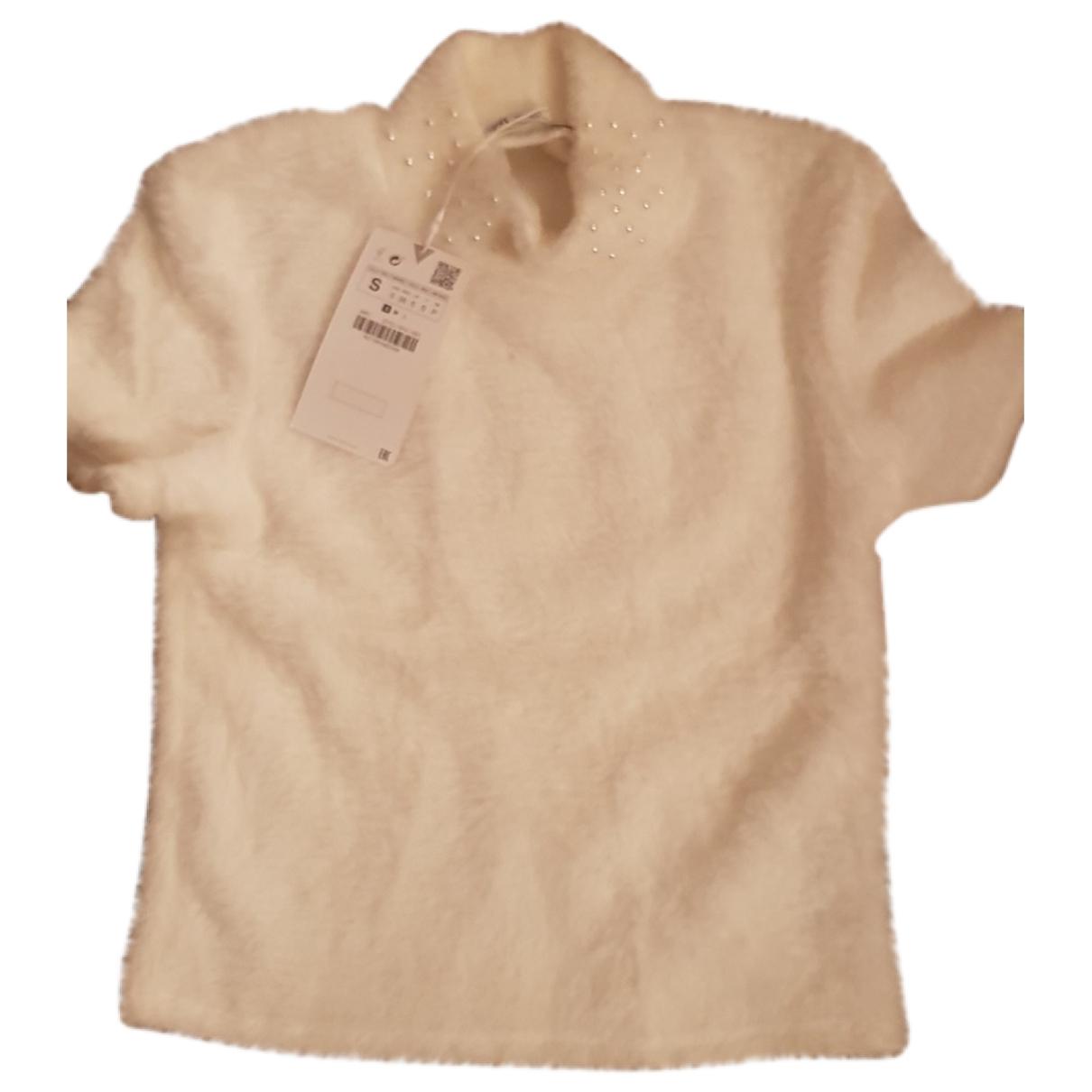 Zara \N Pullover in  Weiss Polyester