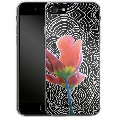 Apple iPhone 7 Silikon Handyhuelle - Tulips von Kaitlyn Parker