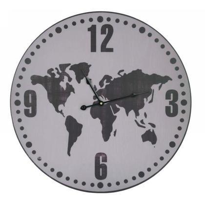 Grande horloge mur taupe & brun 23