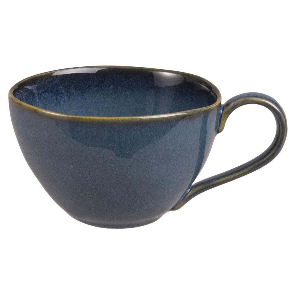 Becher aus Steingut, blau