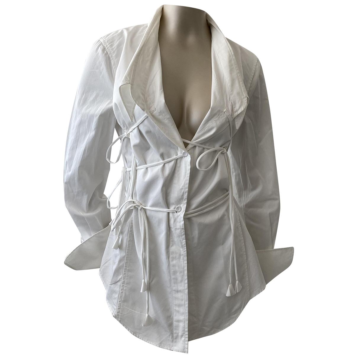 Gianfranco Ferre - Top   pour femme en coton - blanc