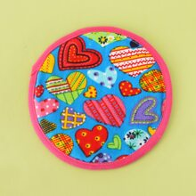 1pc Heart Print Dog Frisbee Toy