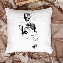 Figure Graphic Cushion Cover Without Filler