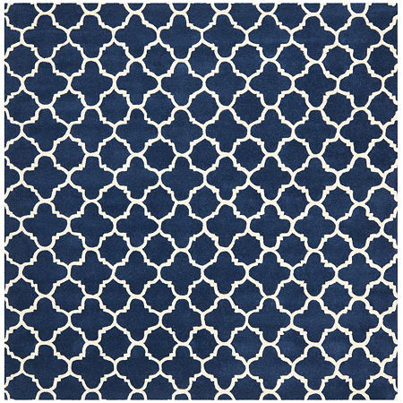 Safavieh Anna Geometric Hand Tufted Wool Rug, One Size , Blue