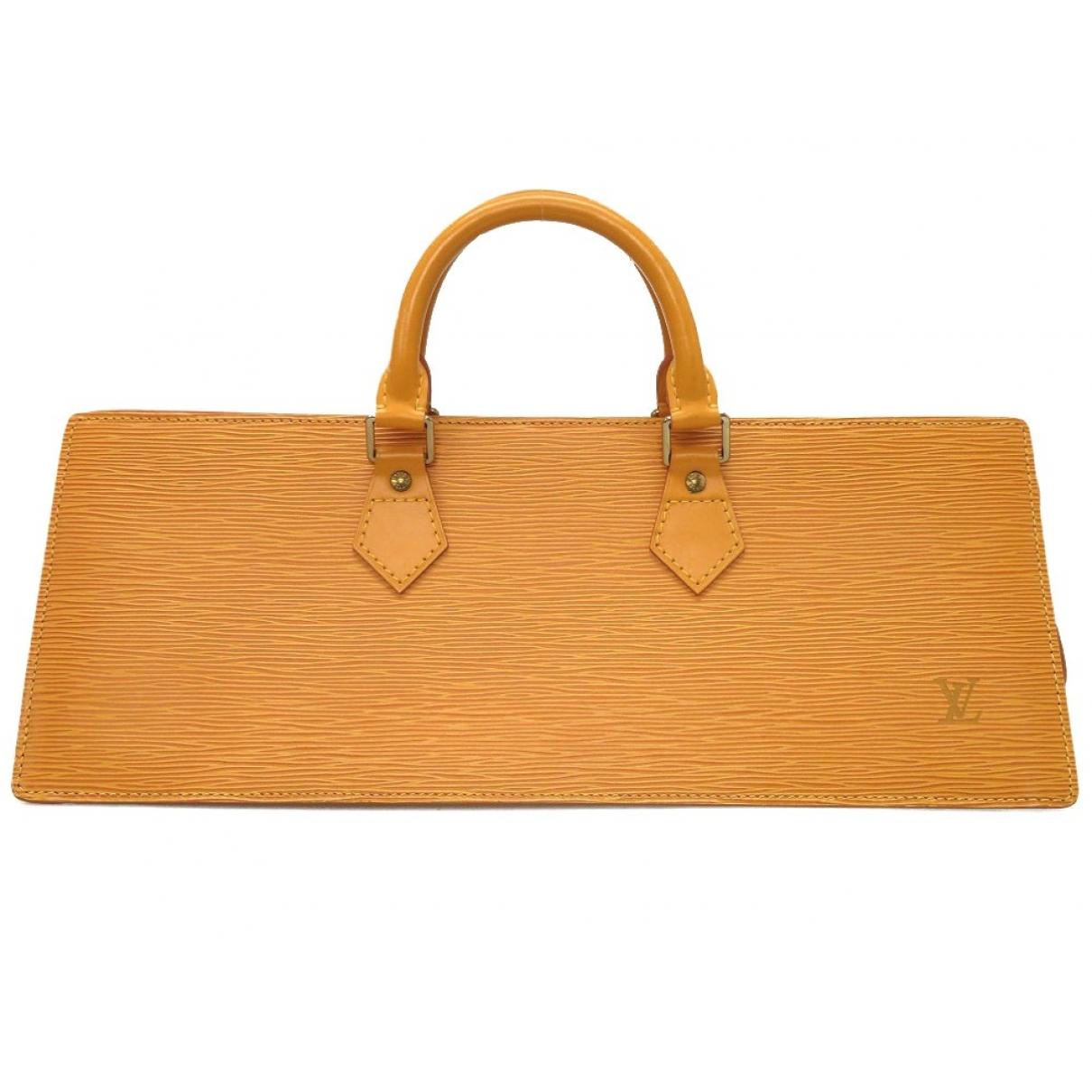 Louis Vuitton - Sac a main Triangle pour femme en cuir - jaune