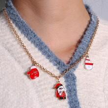Christmas Santa Claus Pendant Necklace
