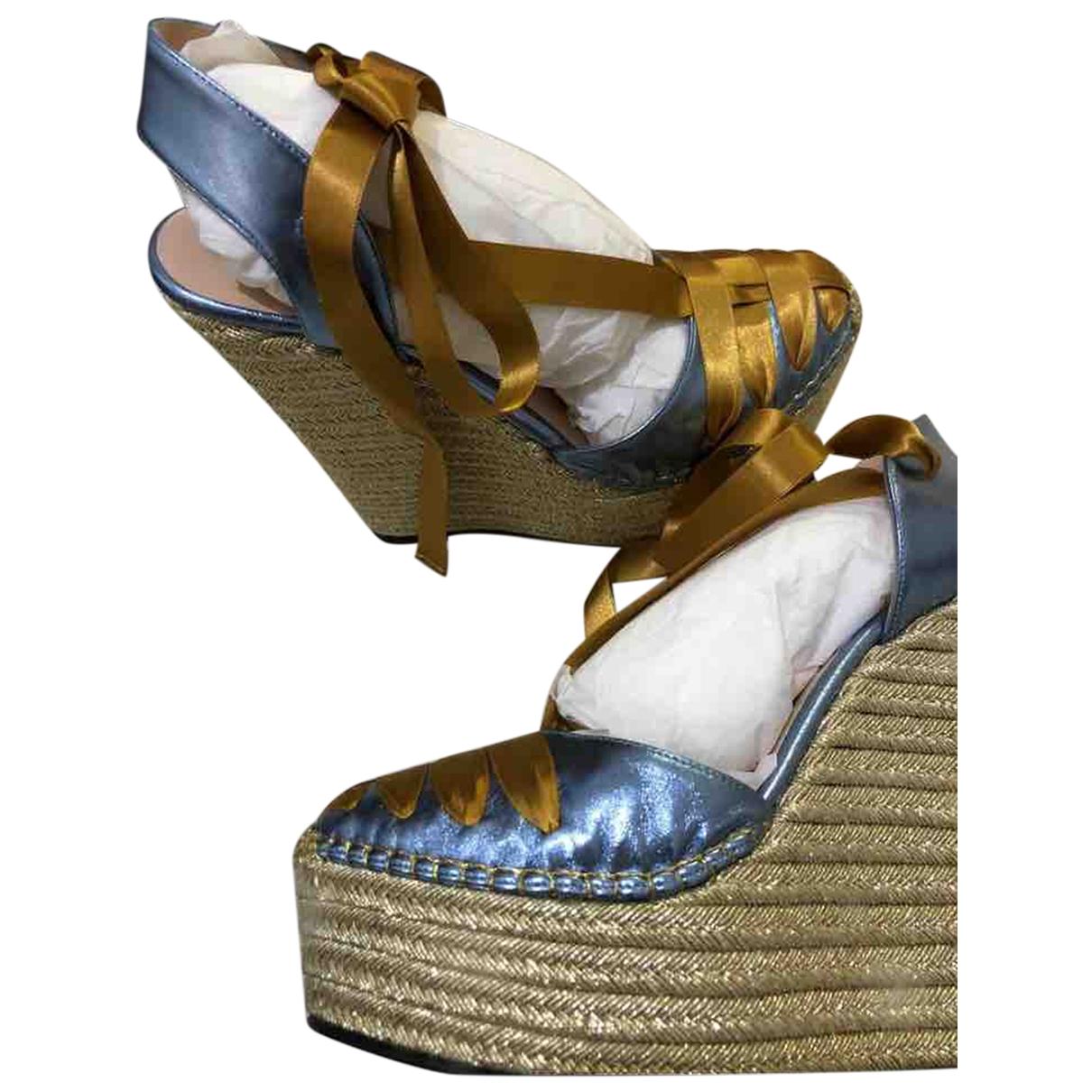 Gucci - Espadrilles   pour femme en toile - multicolore