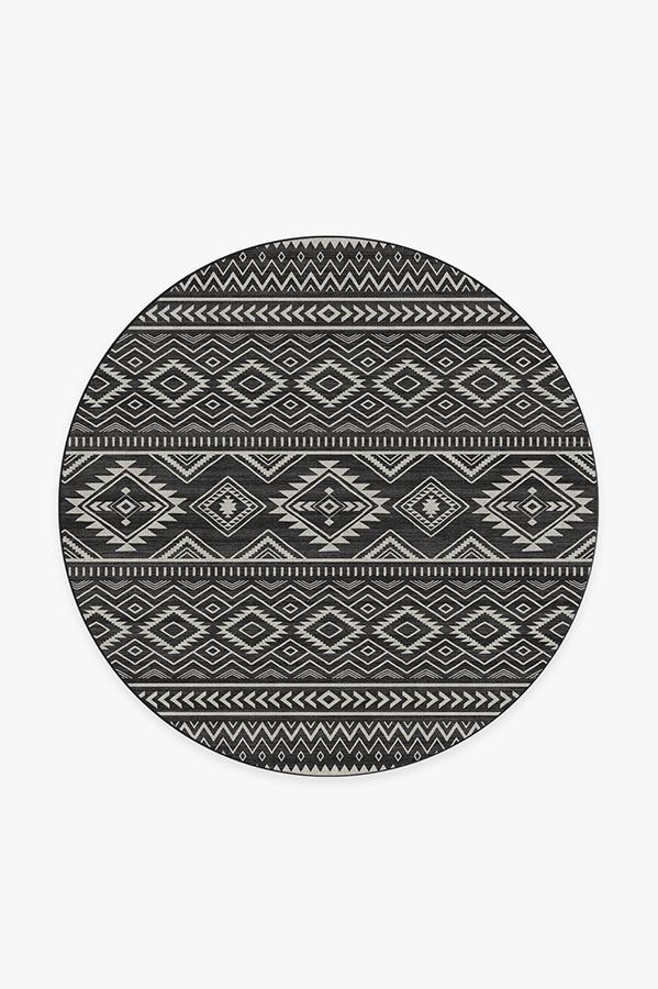 Washable Rug Cover & Pad | Arizona Black Rug | Stain-Resistant | Ruggable | 6' Round
