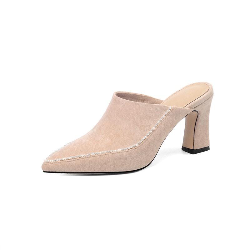 Ericdress Slip-On Closed Toe Thread Winter Slippers