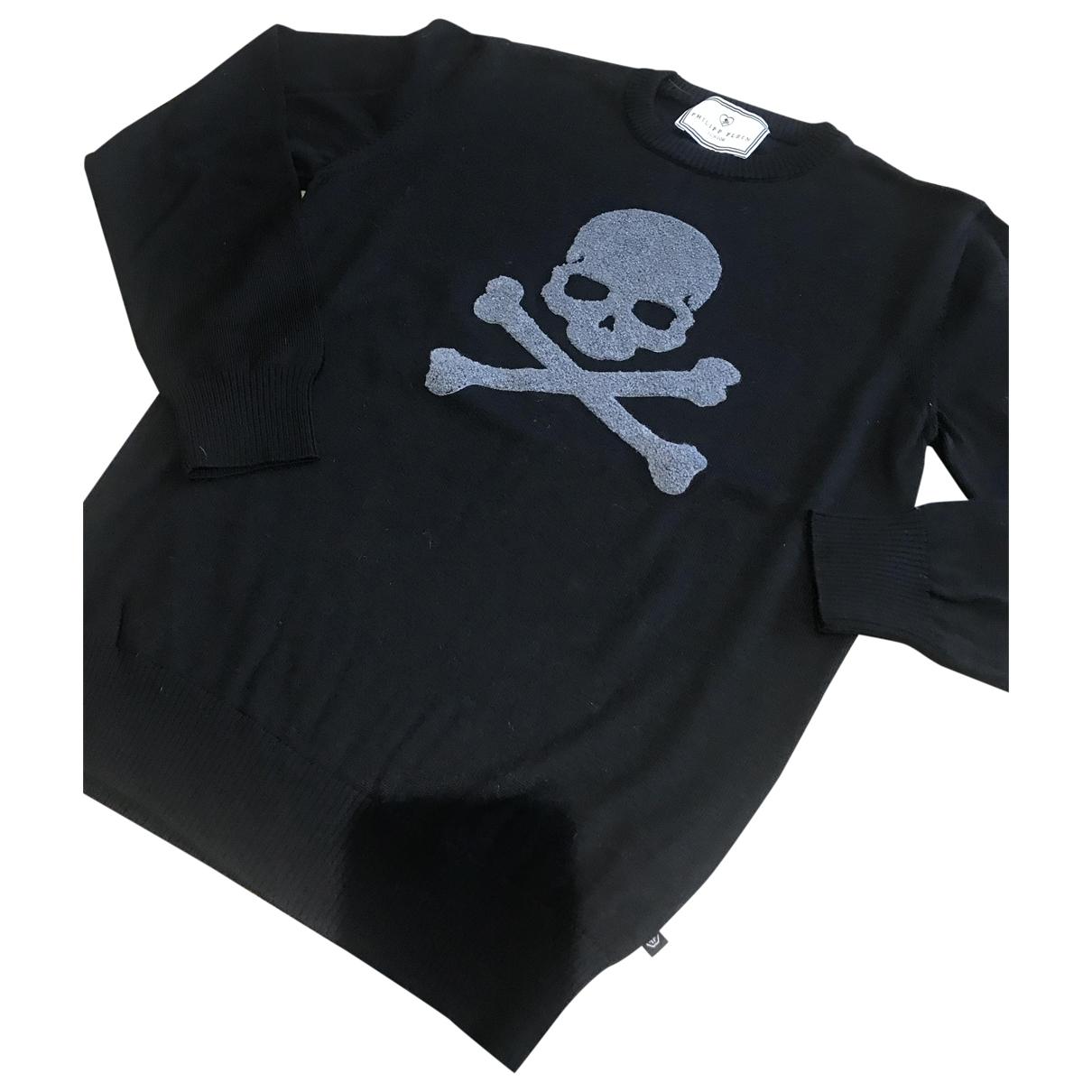 Philipp Plein - Pull   pour enfant en coton - noir