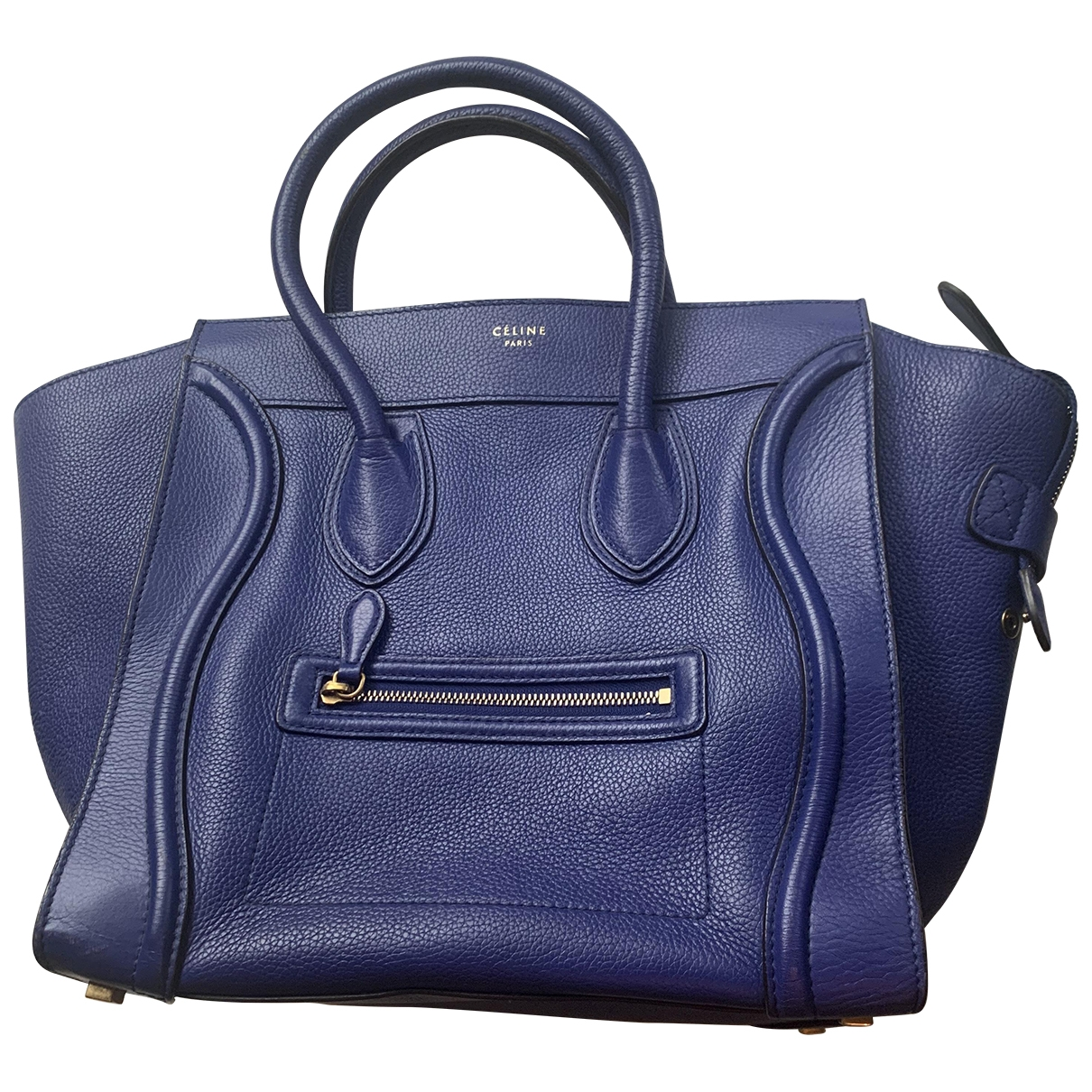 Celine Luggage Blue Leather handbag for Women \N