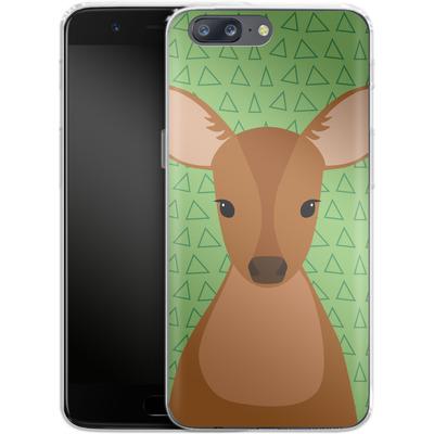 OnePlus 5 Silikon Handyhuelle - Deer on Green von caseable Designs