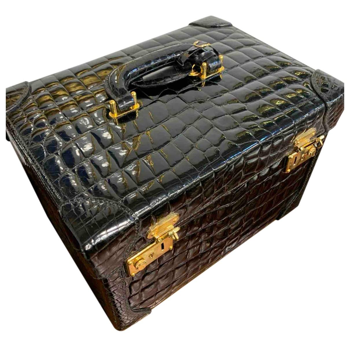 Gucci - Sac de voyage   pour femme en crocodile - noir