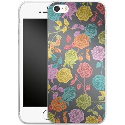 Apple iPhone 5s Silikon Handyhuelle - Roses von Bianca Green