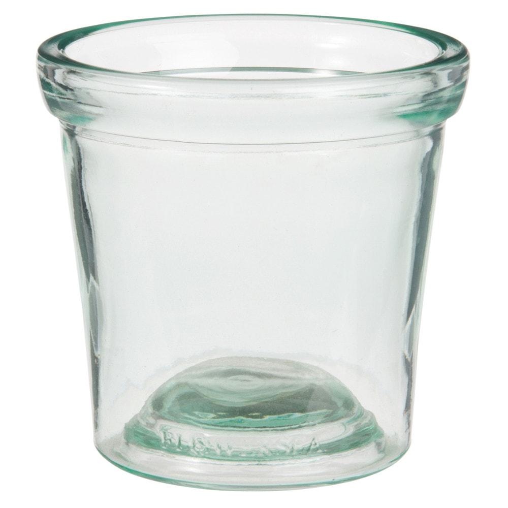 Gefaess aus gruen getontem Glas