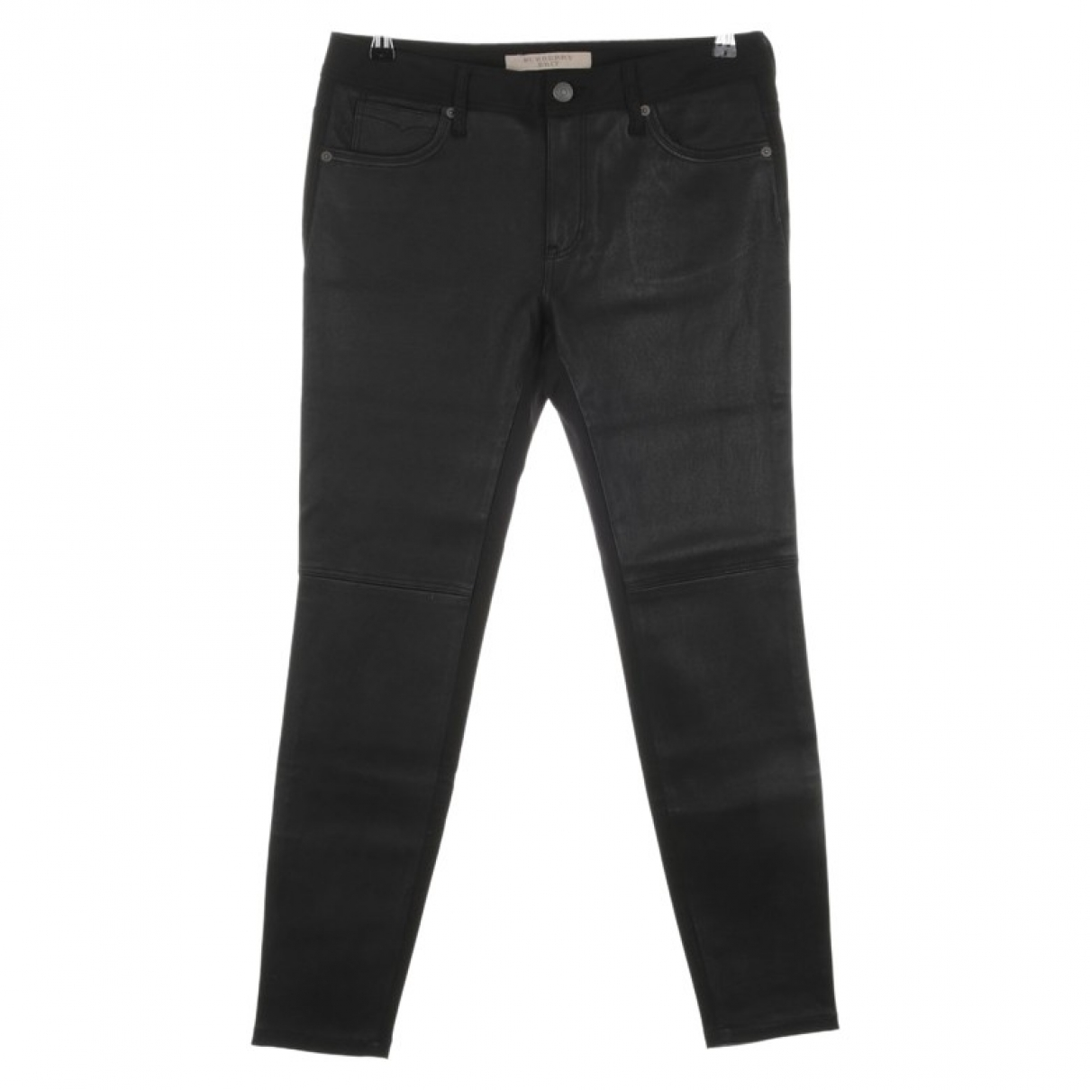 Burberry \N Black Cotton Trousers for Women 40 FR